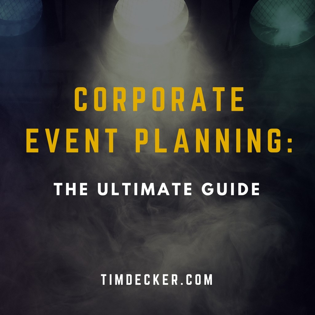 corporate event planning  the ultimate guide